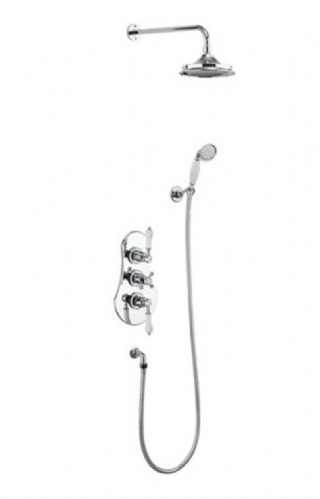 Burlington Severn Concealed Thermostatic Straight Arm Traditional Shower - Various Sizes